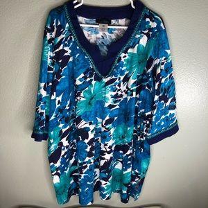 Ulla popken top blouse women size 24/26 plus size